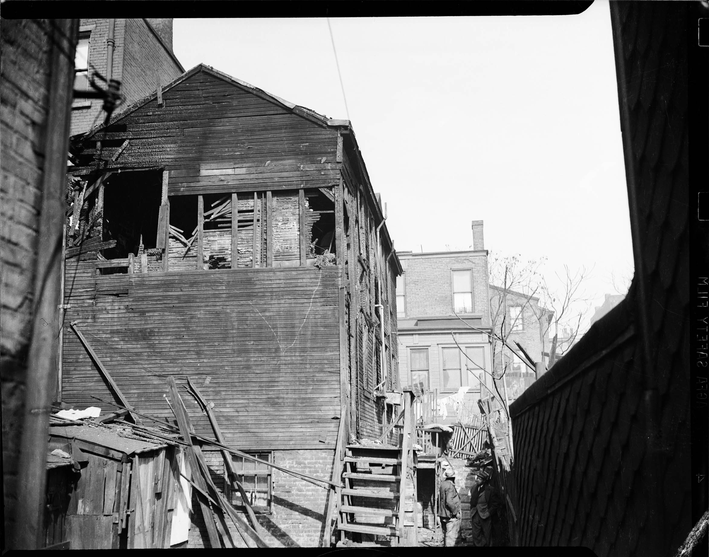 Exterior View Of Wooden House With Planks Of Wood Falling Off And