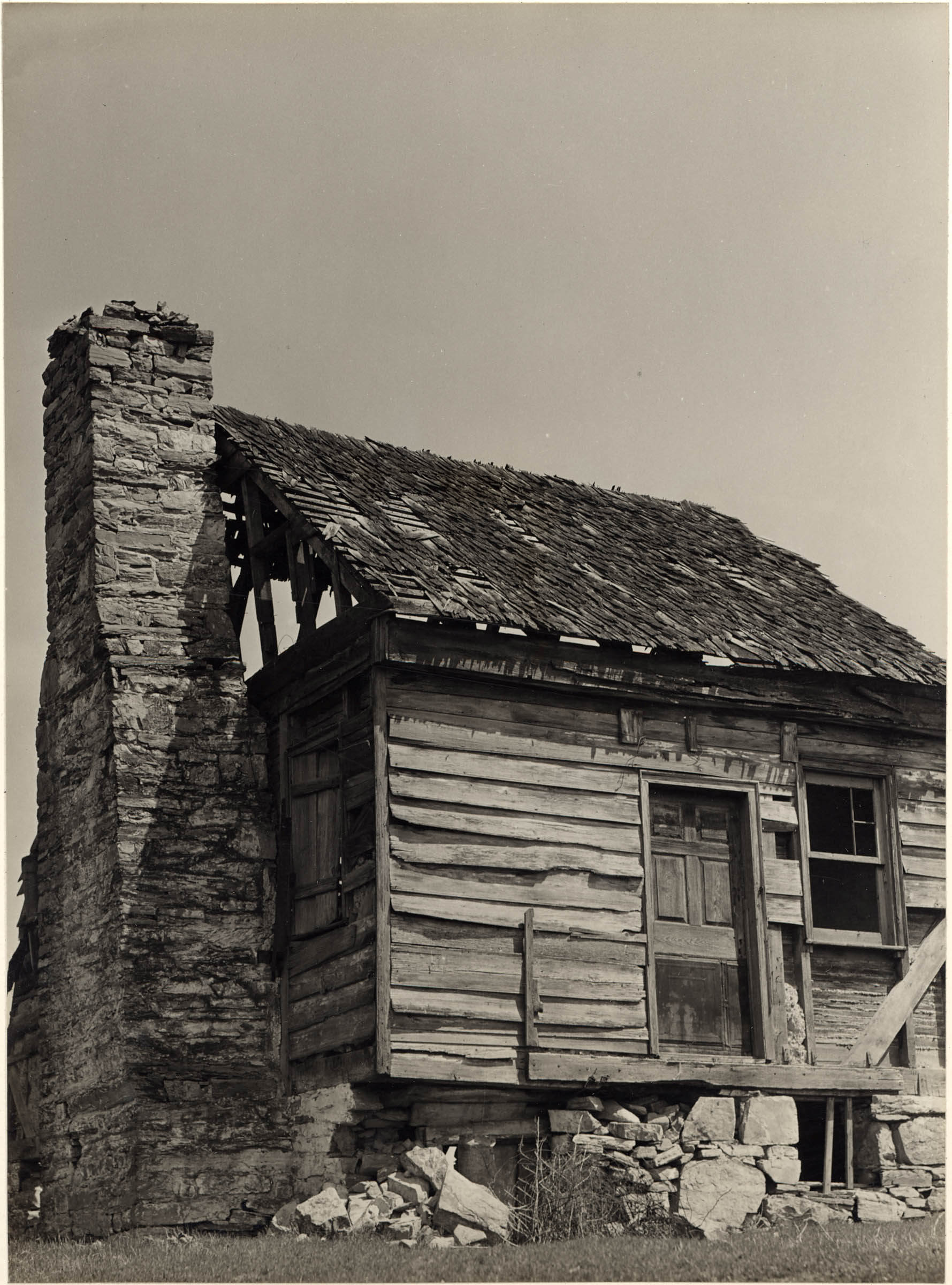 Wooden House With A Stone Chimney Cmoa Collection